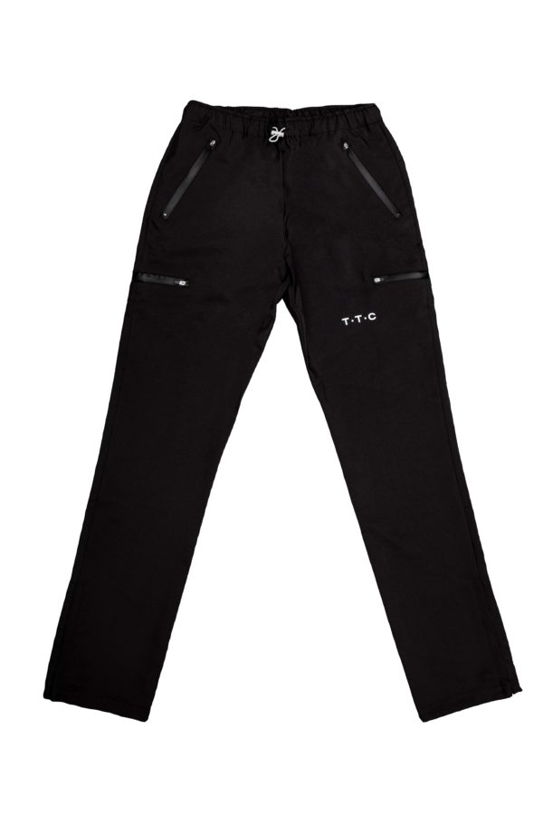 TTC THE TRACKSUIT CLUB Basic Line Trackpants front (black)