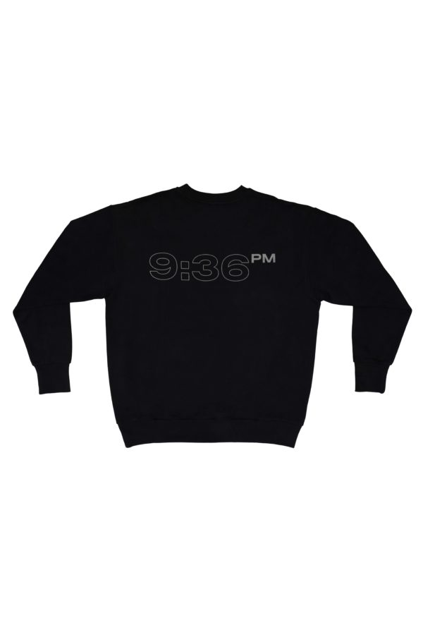 TTC THE TRACKSUIT CLUB OG Sweatshirt HOUR ZERO (black) organic cotton made in europe