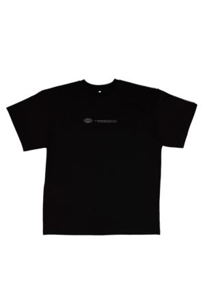 TTC THE TRACKSUIT CLUB Basic Line T-Shirt Globe (black) organic cotton made in europe