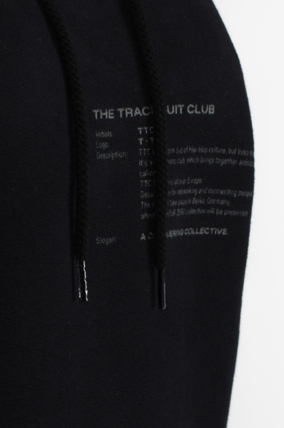 TTC THE TRACKSUIT CLUB Basic Line Hoodie (black) organic cotton made in europe