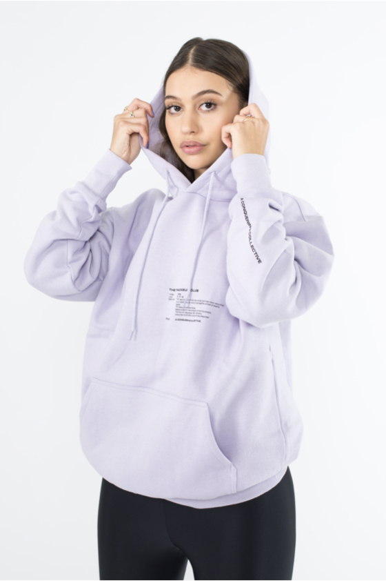 TTC THE TRACKSUIT CLUB Basic Line Hoodie (orchid) organic cotton made in europe