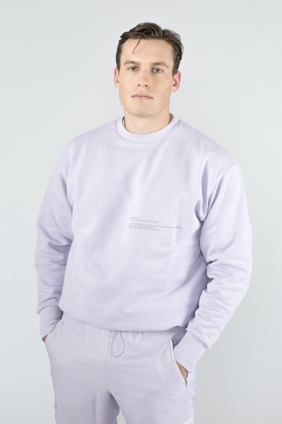 TTC THE TRACKSUIT CLUB OG Sweatshirt HOUR ZERO (orchid) organic cotton made in europe